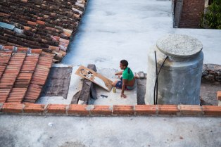 Painting on the roof, Trinidad, Cuba 2017©