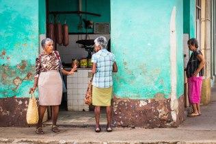 Women at the butcher shop, Trinidad, Cuba 2017